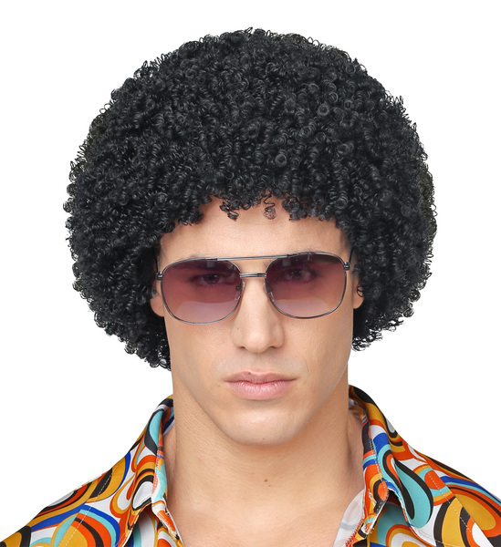 BLACK 70s DISCO WIG (in polybag)