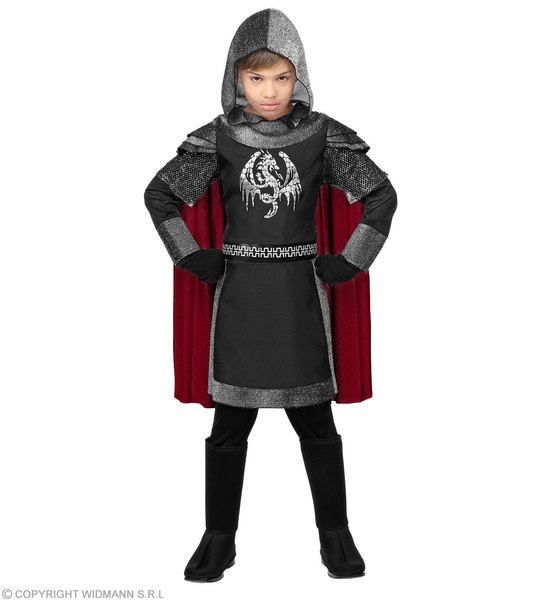 DARK KNIGHT (hooded coat w/ arm guards & cape)  Childrens