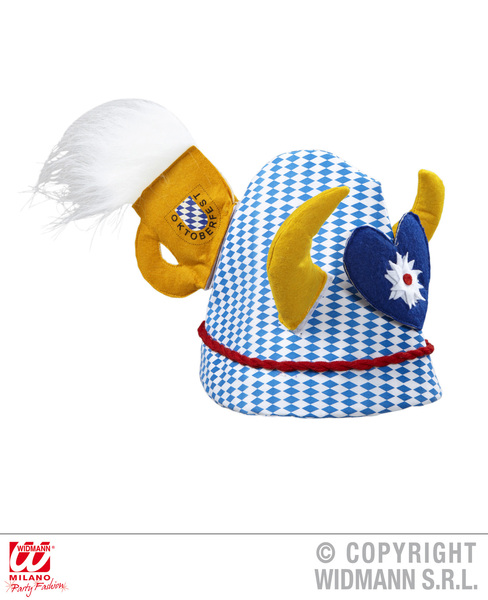 OKTOBERFEST HAT W/HORNS MUG HEART