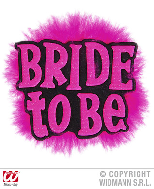BRIDE TO BE BROOCHES - BLACK