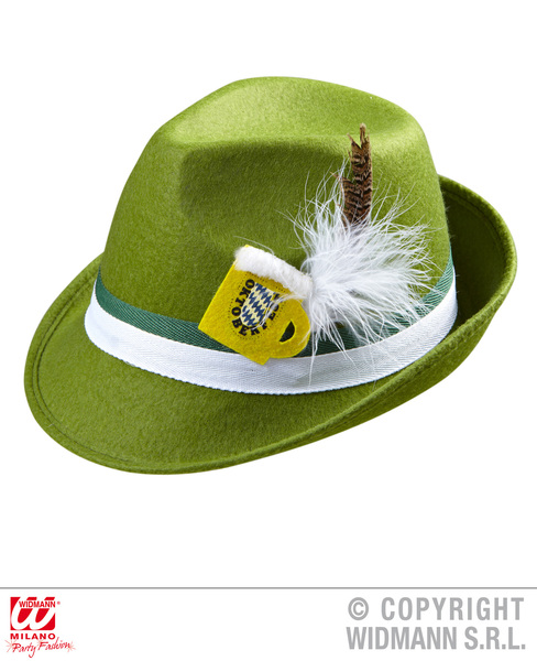 BAVARIAN FEDORA W/BEER MUG DEC - GREEN