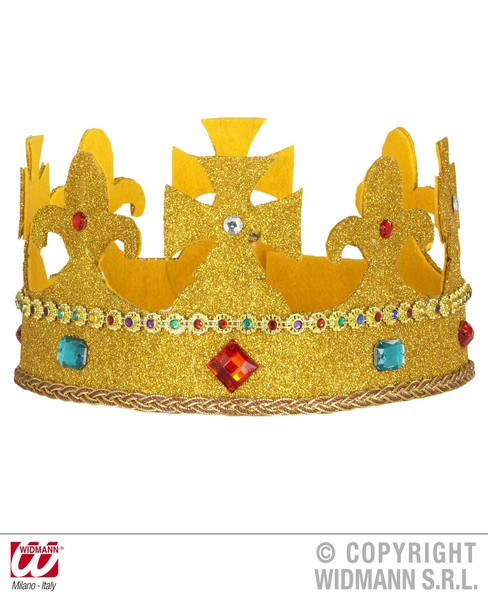 ROYAL GLITTER CROWN W/ GEMS BENDABLE