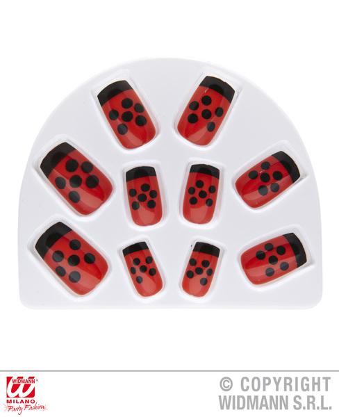 Set Of 10 Ladybug Nails Ladybird Insect Bug Animal Creature Cosmetics
