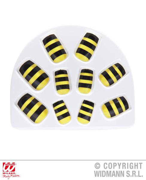 Set Of 10 Bee Nails Flying Bug Honey Cosmetics
