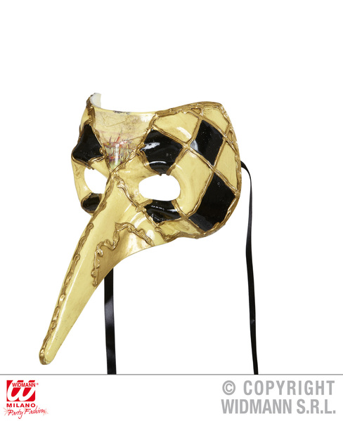 LONG NOSE VENETIAN MASK - CHEQUERED
