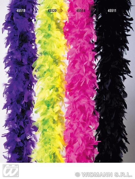 Franco Feather Boa 65g 180cm 20s 30s Chorus Flapper Costume Festa In Rosa-mostra Il Titolo Originale