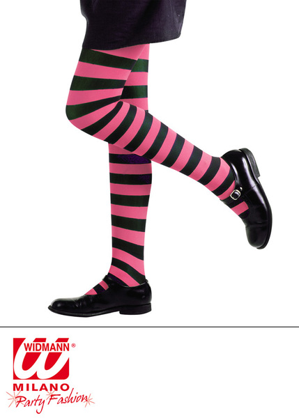 PANTYHOSE STRIPED - PINK/BLACK  Childrens