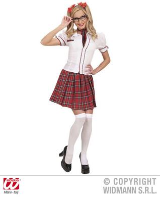 SCHOOL GIRL (shirt skirt necktie hair ribbons)