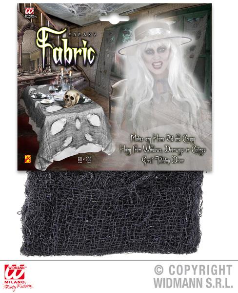 BLACK FREAKY FABRIC 75x300cm