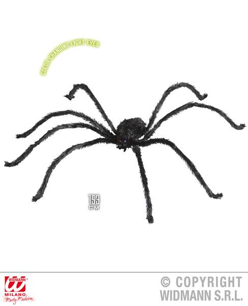 GIANT SPIDER W/COLOUR CHANGE EYES 153cm