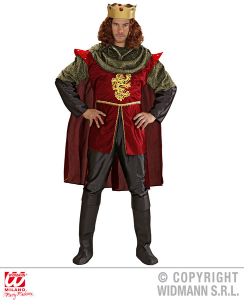 ROYAL KNIGHT COSTUME (coat cape pants bcovers crown)