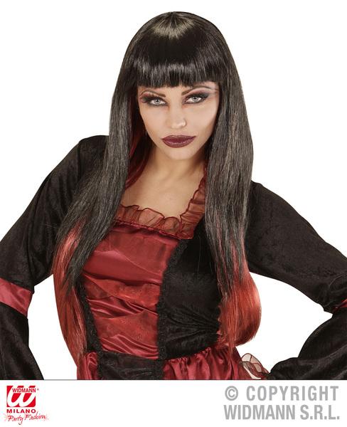 VAMPIRIA WIG - BLACK W/RED TIPS