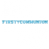 Blue First Communion Letter Banner