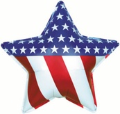 Patriotic Star Foil Balloon