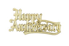 Cake Decoration Happy Anniversary Gold
