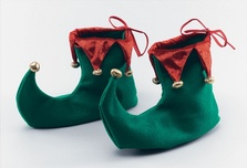 Elf Shoes Adult Red Green Gold