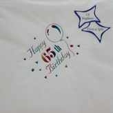Napkins 33cm 65th Birthday Multi Foil