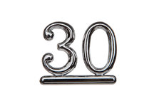 Cake Decoration 30 Numeral Silver