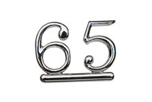 Cake Decoration 65 Numeral Silver