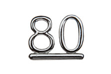 Cake Decoration 80 Numeral Silver