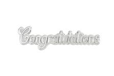 Cake Decoration Congratulations Silver