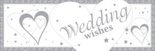 Banner Wedding Wishes 60x20 Plastic