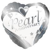 Happy Pearl Anniversary Foil Balloon