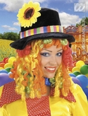 Black Clown Hat With Wig