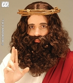 Prophet Wig & Beard Set Brown