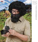Character Beard W/Tash Black