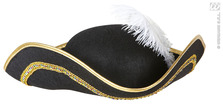 Tricorn W/Feather Felt