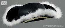 Felt Tricorn With Marabou Trim
