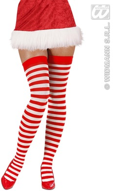 0e8811e3e Red   White Striped Over Knee Socks - The Party Store with so much MORE!  Sanctos