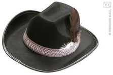 Child Cowboy Hat W/Feathers Black