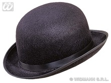 Big Bowler Hat Felt Black
