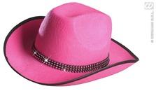 Cowboy Hat Felt W/Strass Band Pink