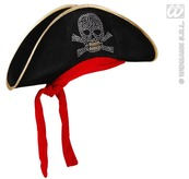Pirate Hat With Studded Skull
