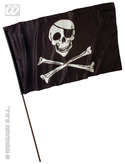 Pirate Flag On Stick Large