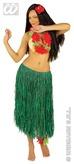 Green Raffia Hawaiian Skirt
