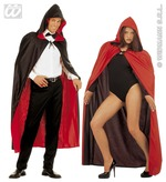 Hooded Cape Black And Red Reversible Adult  Childrens