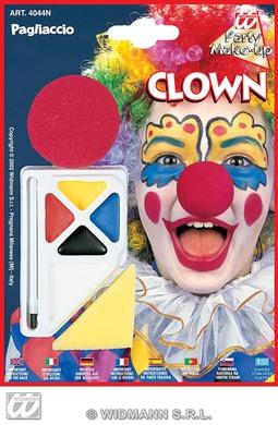 Clown Makeup Set W/Nose