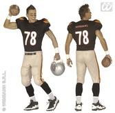 American Footballer Adult Costume