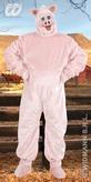 Pig Plush Adult Costume (One Size)