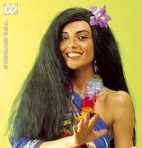 Hawaiian Wig With Flower In Polybag