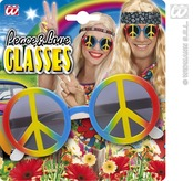 Multicolour Love & Peace Glasses