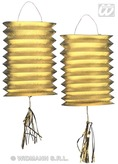 Lanterns Gold Metallic 25cm