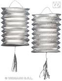 Lanterns Silver Metallic 25cm