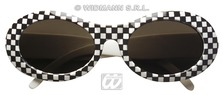 60s Chequered Glasses