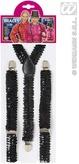 Black Sequin Braces