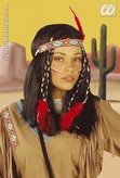 Cheyanne Indian Lady Wig With Decoration Boxed